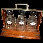 Turn of The Century Tantalus/ liquor decanter