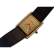 Vintage Cartier Tank Vermeil Case, 3 Gold Colors Dial, Mechanical Movement
