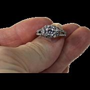 SALE Stunning 2.08 CTW Cushion Cut Diamond Halo Split Shank Engagement Ring