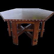 Gustav Stickley Hexagonal Library Table