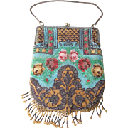 Beautiful Edwardian Beaded Evening Bag or Purse