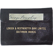 Fascinating London & Westminster Bank Pass Book, 1902, plus 5 Old Cheques