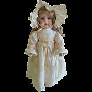 """Hermann Steiner 15"""" German Bisque Head Doll with Blue Sleep Eyes"""
