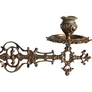 a Wonderful pair of High Quality Bronze French Hinged Candle Sconces.