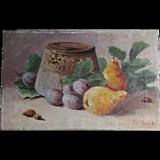 Lovely Antique Dutch Oil Painting Still Life Signed de Munck