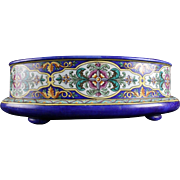 Wow a Rare And Large Antique French Majolica Faience Jardiniere Planter 1850s Signed JVB = ...