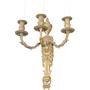 a Rare and Wonderful Antique High Quality Bronze French 3 Candle Sconce 1780s. Louis XVI ...