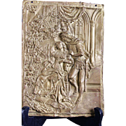 Lovely Antique Bronze Plaque High Quality Made Relief Sculpture 1700s