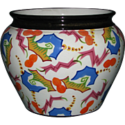 Czech Pottery Jardiniere with Abstract Decorative Motifs