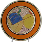 Clarice Cliff's Stylized Melon Design Dinner Plate