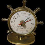 Ship's Wheel Desk Barometer, Advertising - Bellingham Tug & Barge Co.  Circa 1940