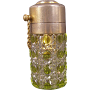 1800's VAL ST. LAMBERT Czech Cut to Clear Glass Crystal Perfume Atomizer Bottle