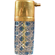 1800s VAL ST LAMBERT Bohemian Cut to Clear Glass Crystal Perfume Atomizer Bottle