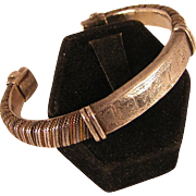 SALE Vintage Hand Crafted Bracelet in Mixed Metals