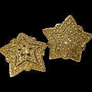SALE Vintage Hattie Carnegie Star Earrings