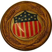 Vintage WWI Lapel Pin Wheat and Shield with 13 Stars