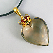 SOLD Extraordinary  Scottish Gold Heart Pendant