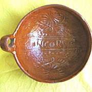 "Vintage 7"" Redware Pottery Bowl from Concordia, Sinaloa, Mexico"
