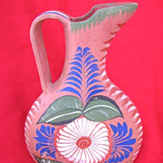 SALE Tonala Mexico Opaque Burnished Pottery Pitcher Circa 1940