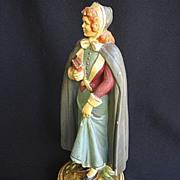Columbia Statuary Co. Pilgrim Woman Statue c. 1950s Made in Italy