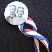 SOLD King George VI Coronation Pin Button 1930s Canada