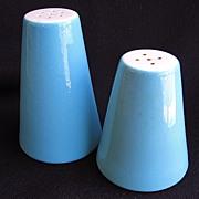 Vintage Marcrest Swiss Alpine Chalet Blue Salt & Pepper Shakers