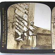 SALE Jewish Girl  Tunis Tunisia 1903 Stereoscopic Card