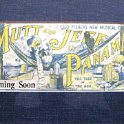 Rare Bud Fisher Mutt & Jeff in Panama Advertising Blotter