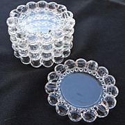 Five Vintage Hobnail Clear Glass Ashtrays