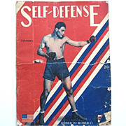 REDUCED Rare 1928 Boxing Magazine : Self-Defense Vol. 1 No. 12