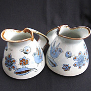 2 Ken Edwards Tonala Mexico El Palomar Pottery 1 QT Pitchers