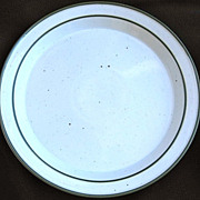 Two Dansk Green Mist Dinner Plates from Denmark