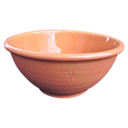 "Shawnee Pottery 7"" Snowflake Dusty Rose / Peach Bowl"