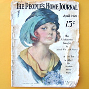 SALE PENDING Rare People's Home Journal Magazine April 1921