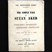 "Antique Naughty Erotica ""The Simple Tale of Suzan Aked"""