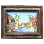 Original Burkland Oil Painting of Palm Springs Canyon