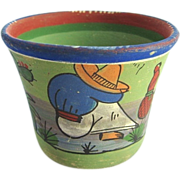 Tlaquepaque Mexican Burnished Pottery Cup c. 1930s Agave Cactus