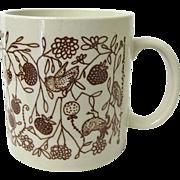 Vintage 1978 Taylor & Ng Coffee Mug Birds and Berries