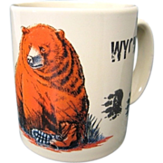 SALE Funny Wyoming Mug Man Meets Bear / Bear Eats Man