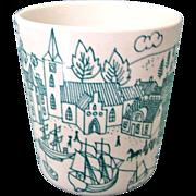 Nymolle Art Faience Demitasse Cup Hoyrup Denmark Ltd Ed 4006