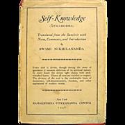 Self-Knowledge: Atmabodha 1946 1st Ed. Swami Nikhilnanda Hindu Classic