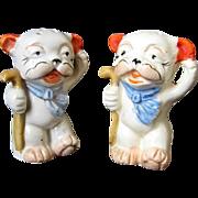 Anthropomorphic Dogs Salt & Pepper Shakers New York Japan