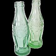 2 Vintage 1940s Coca-Cola Soda Bottles Walla Walla Wash.