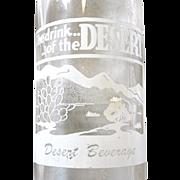 Rare Desert Beverage Soda Pop Bottle c. 1950