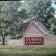 SALE Jim Harrison Signed Numbered Sloan's Liniment Landscape Print