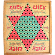 SOLD Wooden Chen Chek Chinese Checkers Board American Toy Works