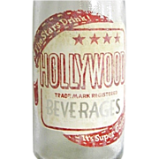 SALE Vintage 1950s Hollywood Beverage Soda Pop Bottle
