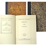 Early Editions of All Three Dorothy Parker Poetry Books