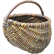 SALE Woven Willow Appalachian Melon Basket circa 1900