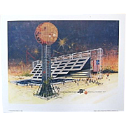 Official Knoxville Tennessee 1982 World's Fair Print by Ben Hampton